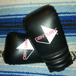 Century 6oz Boxing Gloves - Solid Black Sz S  Gently Used for Sparring / Workout