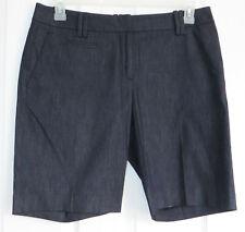 Ann Taylor Loft Dark Blue Original Bermuda Shorts 8 Factory Straight Cotton New