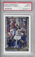 PSA 9 - 1992 Topps Gold Shaquille O'Neal #362 HOT