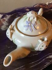 Lenox Garden of Turtles Teapot Slightly Used, Excellent Condition, Never Used, ✅