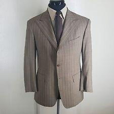 POLO RALPH LAUREN Wool Blazer Vintage U.S.A. (1980'S) 2 Btn. Peaked Lapels  40 R