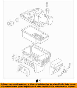 FORD OEM 14-16 F-450 Super Duty Air Cleaner Intake-Filter Box Housing BC3Z9600A