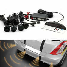 Car Parking Rear Reverse Backup 4 Sensors Buzzer Radar LED Display Audio Alarm
