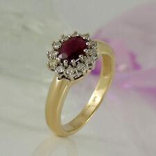 Echte Edelstein-Ringe aus mehrfarbigem Gold mit Rubin für Damen