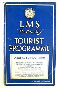 LMS The Best Way Tourist Programme With Maps UK/ Ireland Ticket Pricing 1929 VGC