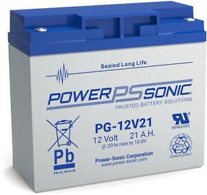 PG12V21 Power-Sonic PG 12 volt 21Ah Rechargeable Lead Acid 12 V 21Ah Battery