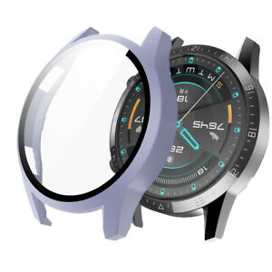 Full Cover 9H Tempered Glass Matte PC Bumper Case For Huawei Watch GT 2 46MM
