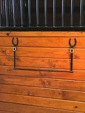 Handmade Black Iron Elegant Horse Blanket Bar for Tack Rooms and Stall Fronts