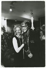 "Yves St. Laurent & Lauren Bacall - Ken Regan Original Vintage 9.25"" x 14"" Photo"
