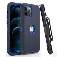 For iPhone 12/12 Pro Max/11 Pro Max/Shockproof Defender Case+Belt Clip Holster