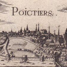 Gravure XVIIe Vue de la Ville de Poitiers Vienne Christophe Tassin 1634