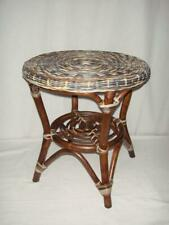 Rattan Table Sofa Furniture Tray Round Zebra Coffee Side