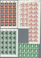 BUND 1958 Mi. 290-93 ** Bogenteile, Sheetparts NH 60 €
