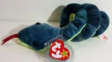 "TY Beanie Babies ""HISSY"" the Snake - MINT! RETIRED! PERFECT GIFT! A MUST HAVE!"