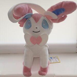 "Rare Official Pokémon I Love EIEVUI Sylveon Soft Plush Japanese Toy 10"""