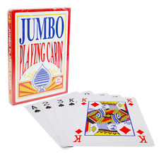Jumbo Large Size Deck Poker Playing Game Card Party Games Large Print 21x28cm 3+