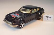 Majorette 1/60 Nr. 229 Datsun 260Z schwarz Eigenwerbung #290