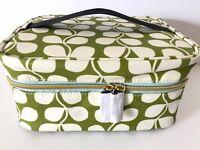 Orla Kiely ETC For Target Green Tulip Train Case Cosmetic Travel Organizer Bag
