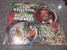 """Andy Williams """"Christmas With"""" LP with Williams Brothers"""