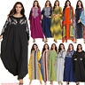 Dubai Abaya Women Muslim Batwing Sleeve Dress Farasha Kaftan Jilbab Islamic Robe