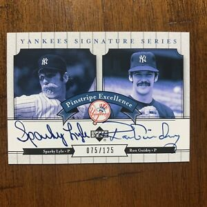 2003 Sparky Lyle, Ron Guidry - 75/125 - upper deck #PE-LG yankees signature