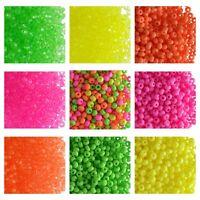 CHOOSE COLOR! 20g 7/0 (3.5mm) NEON Seed Beads Preciosa Ornela Czech Glass