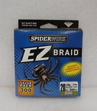 New SpiderWire EZ Braid SEZB20G-300 20LB 300YD Moss Green Dyneema Fishing Line