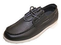 Mocassin chaussure bateau à lacets homme à enfiler fashion simili cuir!