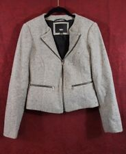 Mossimo Women's Moro Jacket Medium Gray With Black Speckled Cropped Wool Blend