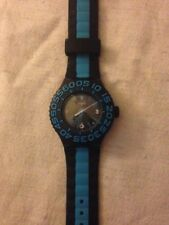 Unisex Swatch Watch black and blue - with silicone strap