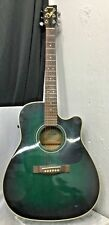 Yamaha Acoustic Electric Guitar FG-411 CE MAB GREEN