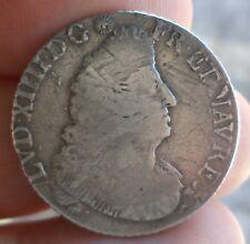 R1 LOUIS XIV QUART D'ECU AUX PALMES 1694 A