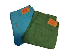 Levis Mens Denim Colored Jeans 36x32, mustard,darkgreen,bluegreen,skyblue,purple