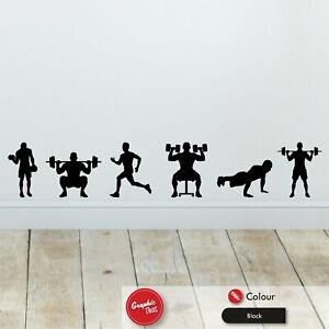 x6 Gym Wall Stickers Skirting Board Workout Bedroom Vinyl Decals