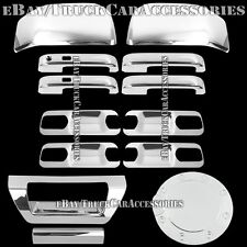For FORD F150 2015 Chrome Covers 4 Door Handles+Back Plate+Mirrors+Gas+Tailgate