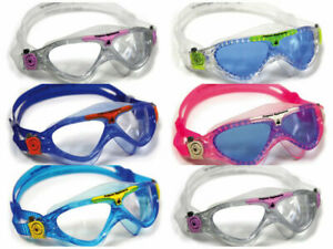 AQUA SPHERE Vista Junior Swimming Goggles & Caps Children kids Swim pool goggles