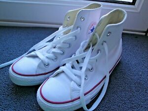 CONVERSE TRAINERS SIZE 4.5 EU 37 LEATHER ALL STAR WHITE 132169C SHOES UNISEX