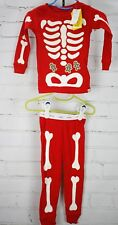 NEW BABY GAP Pajamas Christmas Skeleton Gingerbread Boys 18-24 Month Red 2 Piece
