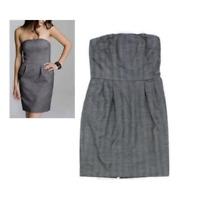 Express Design Studio Womens Gray Herringbone Strapless Fully Lined Dress Size 8