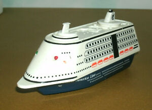 """6"""" Holland America Line Cruise Ship Plastic Toy Ocean Liner (lightup toy) Daron"""