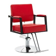New Salon Barber Chair Hydraulic Hair Styling Chair Haircut Beauty Equipment Red