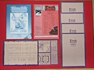Death on the Reik Games Workshop 1987 Warhammer Supplement, Rare, OOP