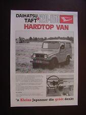 Daihatsu Taft F20-F50 Hardtop Van Prospektblatt / Sales sheet, NL, selten / rare