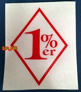 1%ER ONE PERCENTER DIAMOND STICKER VINYL DECAL old school outlaw biker mc