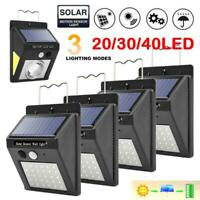 4 pcs 20/30/40LED Solar Motion Sensor Wall Lamp Waterproof Garden Security Light