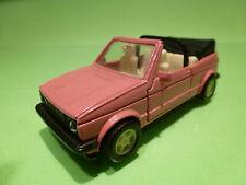 CHINA VW VOLKSWAGEN GOLF TYPE 1 CABRIO - PINK 1:43 - RARE SELTEN - GOOD -