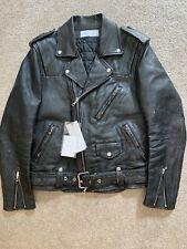 John Elliott Yuji Rider Jacket Black Leather Biker M Medium 2 Villain Thumper