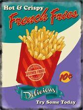 French Fries chips, 50's Dinner Kitchen Cafe Food Retro, Novelty Fridge Magnet
