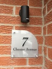Large Modern House Number Plaque. Acrylic  Sign With Brushed Effect Back. Door