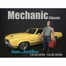 American Diorama 38280 Mechanic - Sam with Tool Box  1:24